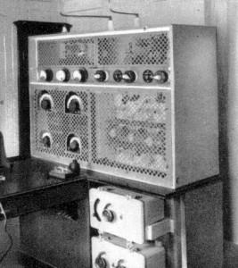 Transmitter on board the Baloeran